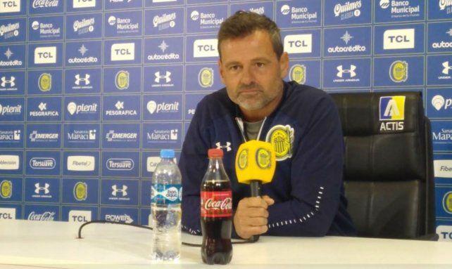 El DT canalla Diego Cocca habló en conferencia de prensa.