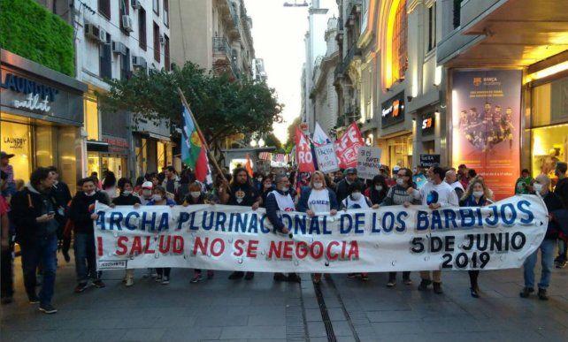 La marcha recorrió el microcentro rosarino. (Foto: @ATE)