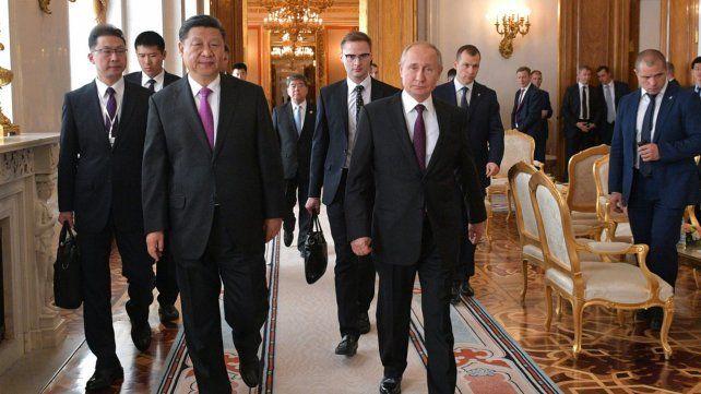 Potencias. Ambos líderes marchan hacia la declaración conjunta.