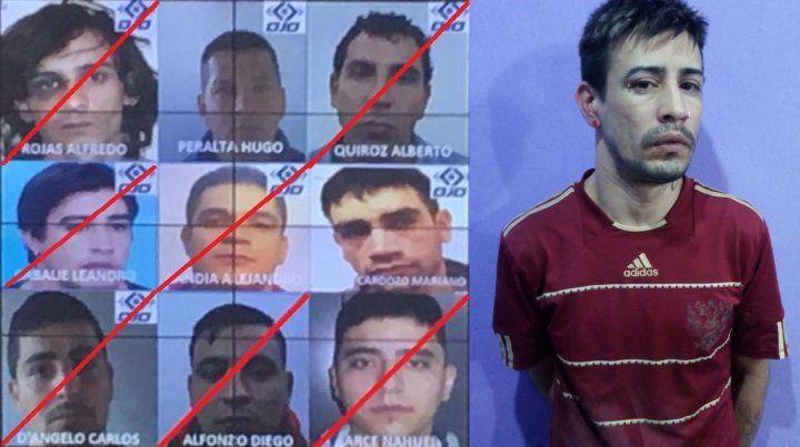 Leandro Cabalie (en la foto grande de la derecha) fue recapturado hoy. Aún hay dos prófugos.