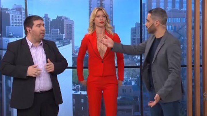 Nicole Neumann pasó un muy incómodo momento en televisión