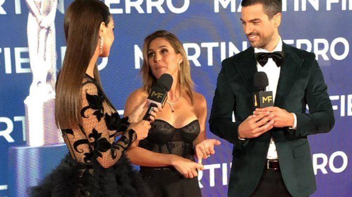 Soledad Pastorutti en la alfombra roja de los Martín Fierro 2019.