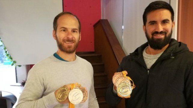 Medallas. Los deportistas casildenses exhibieron sus logros.