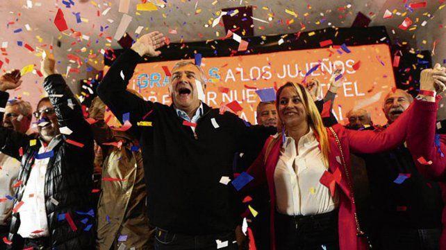 euforia. Gerardo Morales gobernará Jujuy cuatro años más.