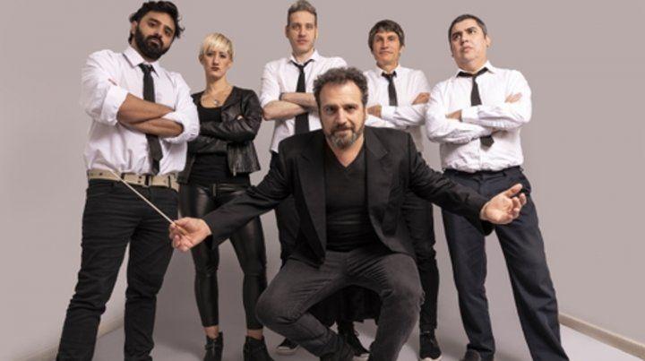 La banda y el director. New Beats y el director Nelson Coccalotto actuarán junto a una orquesta sinfónica.