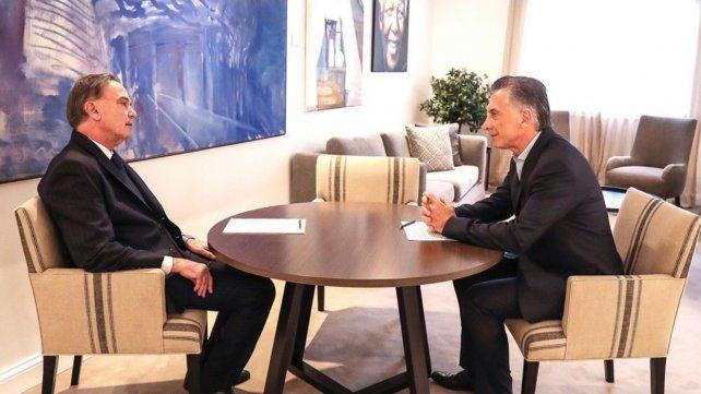 Tras el anuncio de la fórmula presidencial, Macri se reúne con Pichetto en Olivos
