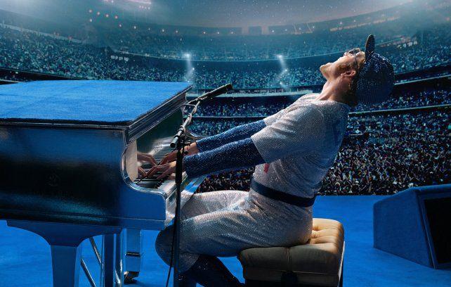 Elton John y el actor de Rocketman vivieron un gran momento en el escenario