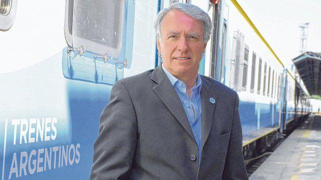 En el andén. El presidente de Trenes Argentinos