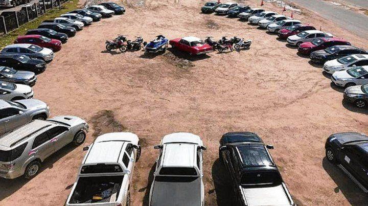 secuestro. En marzo pasado se incautaron más de 40 vehículos.