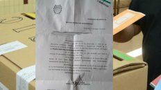 La notificación que recibieron vecinos de Firmat.