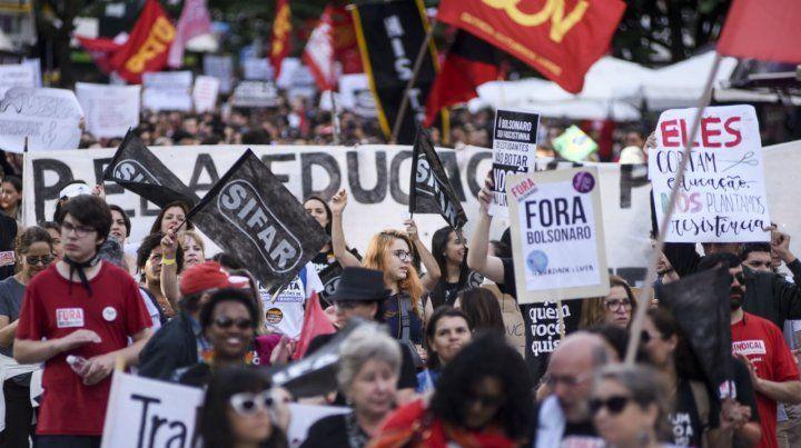 La movilización en Curitiba