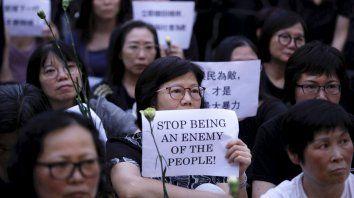 Una protesta contra el régimen chino en Honk Kong.