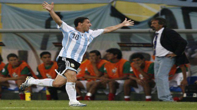 Maxi anotó el golazo de la eliminación a México en los octavos de final del Mundial de Alemania 2006.