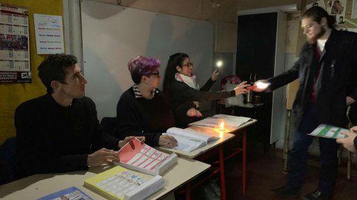 En algunas escuelas estuvieron sin energía durante varias horas.