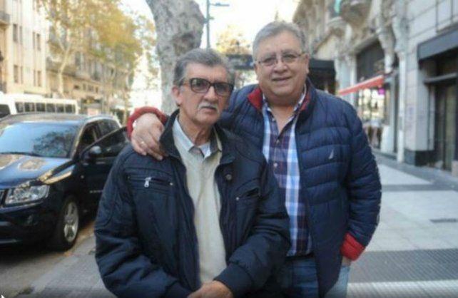 Marcos Camino (derecha) junto a su hermano Miguel.