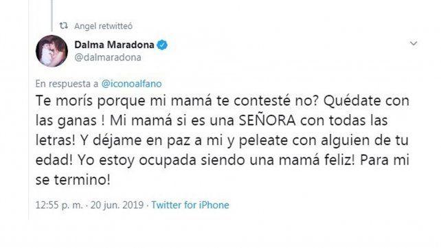 Graciela Alfano y Dalma Maradona, en una guerra sin tregua