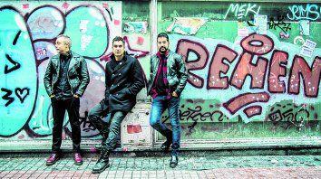 inoxidables. Luciano Scaglione, Mariano Martínez y Leo De Cecco (de izq. a der.) regresan a Rosario con sus clásicos y temas nuevos.
