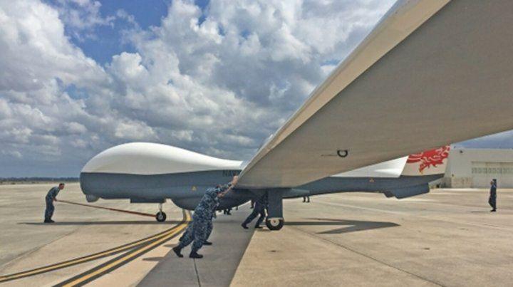Grande. Un dron Global Hawk como el derribado ayer en el Golfo.