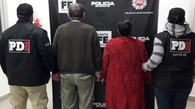 La pareja detenida el miércoles a la noche.