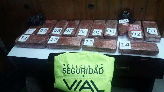 La droga incautada en el departamento Las Colonias.