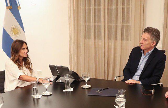Amalia Granata y Macri se reunieron en Olivos.