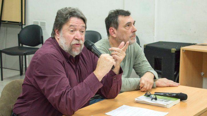 Presentación. Lozano presentó su libro en Rosario en la sede de ATE. Es una denuncia política