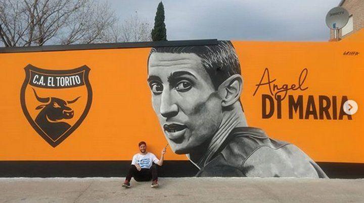 Di María tiene su mural en la zona norte de Rosario