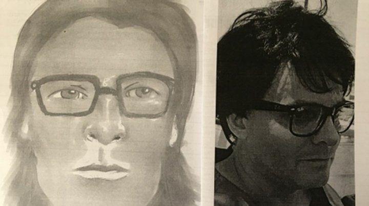 Imágenes. El fotofit que compuso un testigo del ataque a Peyrano y una foto reciente del ahora condenado.