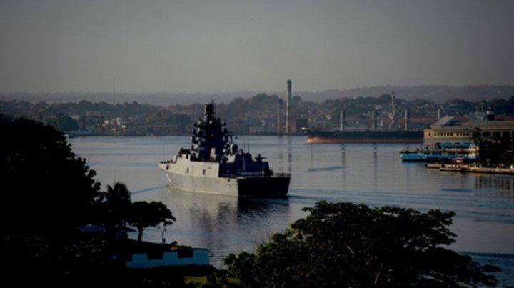 Guerra fría. La fragata rusa Gorshkov ingresa al puerto de La Habana.