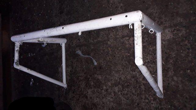 Detenidos por robar un arco de fútbol de un club de barrio