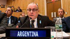 Naciones Unidas. El canciller argentino Jorge Faurie.