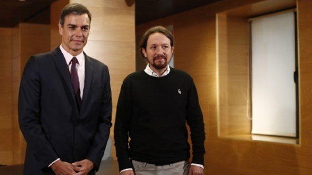negociaciones. Pedro Sánchez y Pablo Iglesias no acordaron.