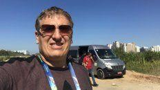 Claudio Giglioni, periodista amenazado en Río de Janeiro.