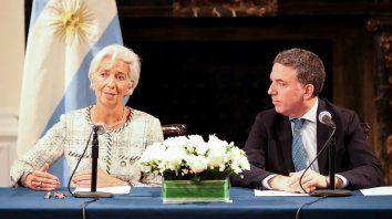 La directora del FMI y el ministro Nicolás Dujovne