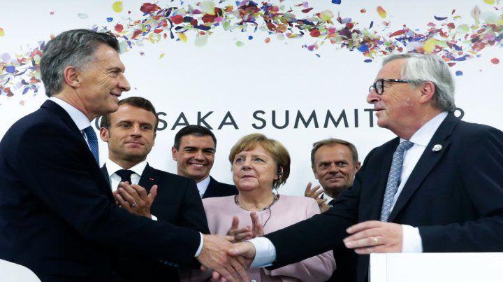 Mauricio Macri y el titular de la Comisión Europea