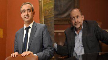El intendente electo Pablo Javkin y el flamante gobernador Omar Perotti.