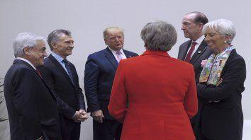El presidente junto a líderes mundiales en le cumbre del G20.