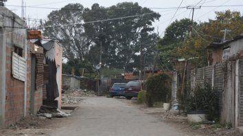 El lugar donde asesinaron la madrugada de ayer a Juan David Godoy, quien tenía sólo 13 años.
