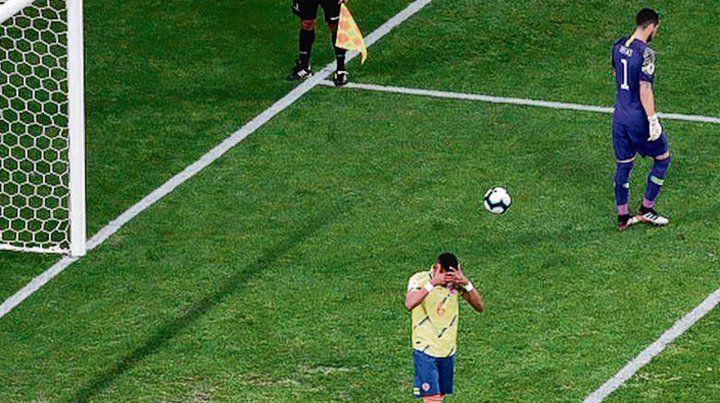 En cuartos de esta Copa. Tesillo erró el penal con el que Colombia quedó eliminada.