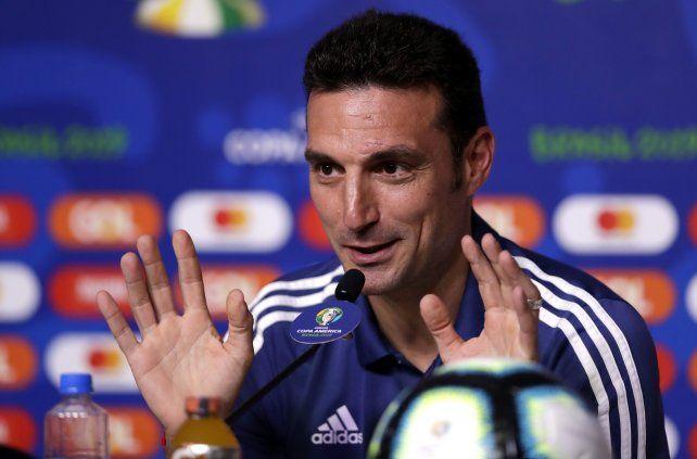 Scaloni admitió que Brasil es el favorito.