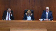 El tribunal integrado por los jueces Marcela Canavesio, Carlos Leiva y Rodolfo Zvala.
