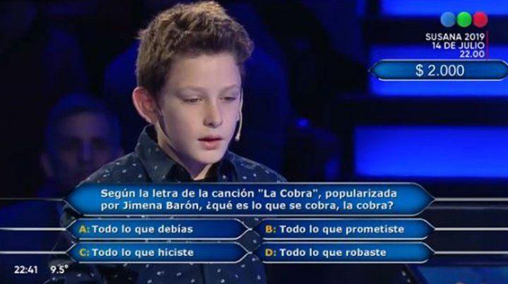 Polémica por un chico que participó y ganó en ¿Quién quiere ser millonario?