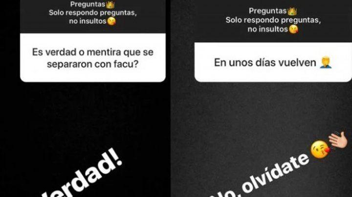 Morena Rial confirmó que se separó de Facundo Ambrosioni