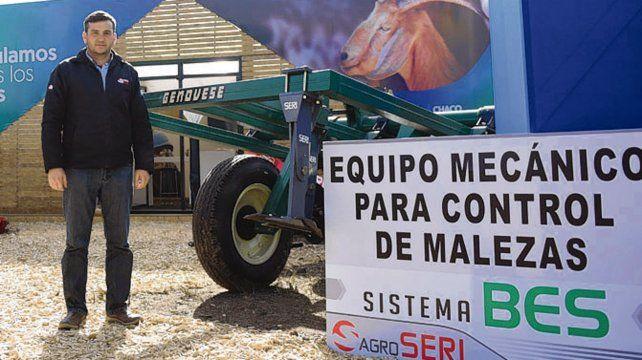 Alternativas. Seri presentó el sistema BES en el stand de la provincia de Chaco.