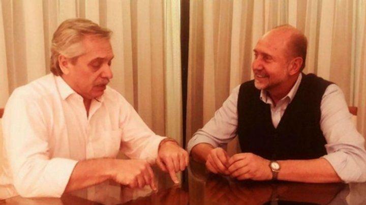 En sintonía. Alberto Fernández y Omar Perotti