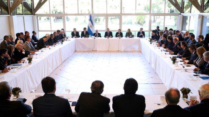 Consultas. Macri se reunió con más de 30 cámaras empresarias.