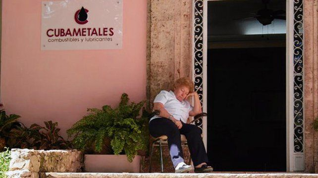 Frente de la sede de Cubametales en la capital cubana