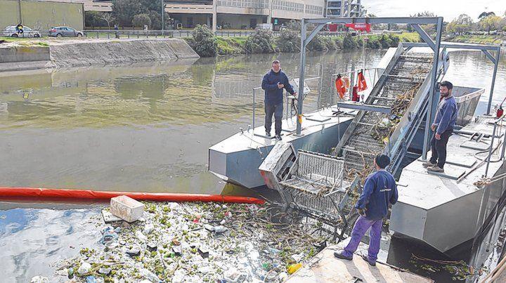 Acumulación de basura. La mayoría de los residuos son plásticos.