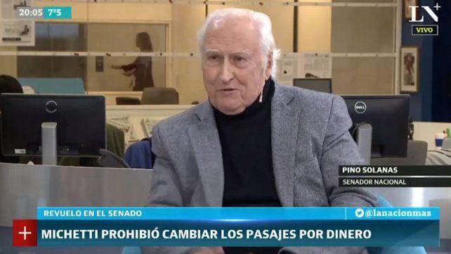 Pino Solanas explicó porqué los senadores tienen que ganar más