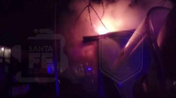 Un video registra el incendio fatal en una verdulería